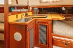 Galley with Sink and Diesel Stove and Heater